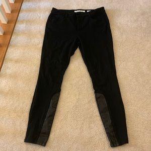 ec5828ddd233c3 Jones New York · Jones New York black jeggings with leather size 16